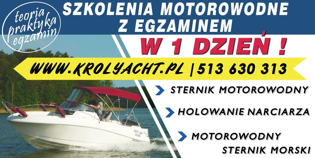 Kurs, szkolenie STERNIK motorowodny z EGZAMINEM w 1 dzień